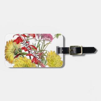 お祝いのSringの花柄のギフト ラゲッジタグ