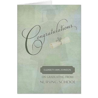 お祝いは名前の看護程度を卒業させます カード