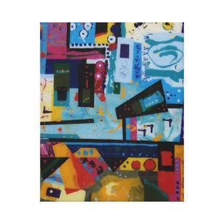 お祝いは生命のおもしろいの抽象芸術のお祝いです キャンバスプリント
