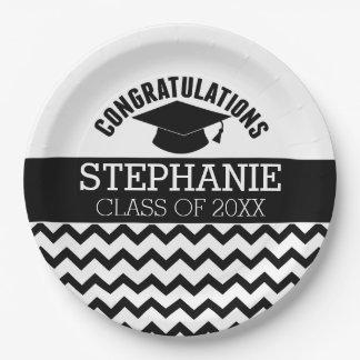 お祝いは-名前入りな卒業を卒業させます ペーパープレート