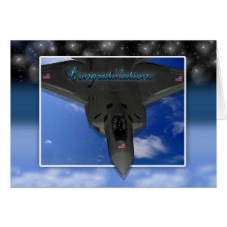 お祝いカードを依託している空軍 カード