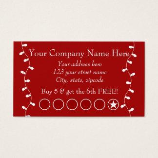 お祝いビジネス昇進のパンチカード 名刺