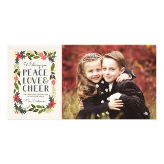 お祝いフレームの休日の写真カード 写真カード