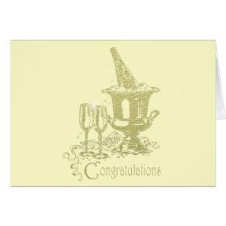 お祝い、シャンペンおよびガラスの芸術 カード