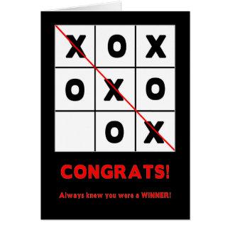 お祝い-多目的-勝者 グリーティングカード