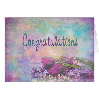 お祝い-数々のな目的-花柄 グリーティングカード