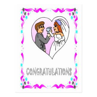 お祝い-新郎新婦 ポストカード