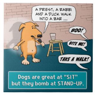 お笑い実演クラブの犬の爆撃 タイル