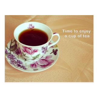お茶を楽しむ時間 ポストカード