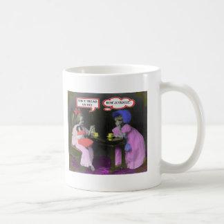 お茶会のパロディのマグ コーヒーマグカップ