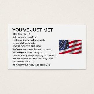 お茶会の包含カード 名刺