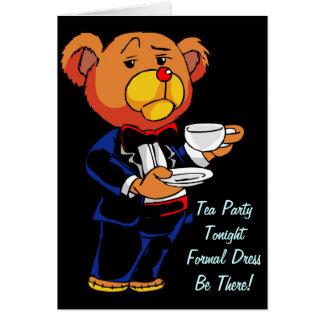 お茶会の招待-メッセージカード カード