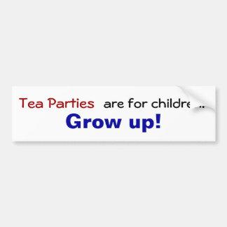 お茶会は子供のためです… 育って下さい! バンパーステッカー