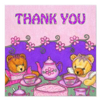 お茶会はCard~Teddyくま感謝していしています カード