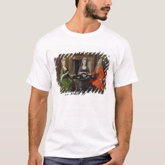 お茶会(キャンバスの油) Tシャツ