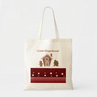 お菓子の家およびジンジャーブレッドマン トートバッグ
