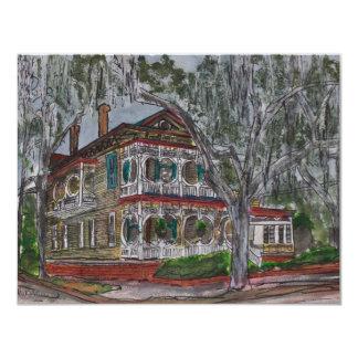 お菓子の家のサバンナのジョージアの芸術の絵画 カード
