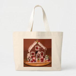 お菓子の家のトートバック ラージトートバッグ