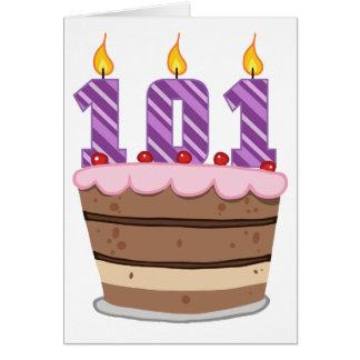 お誕生日ケーキの年齢101 カード