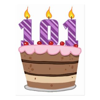 お誕生日ケーキの年齢101 ポストカード