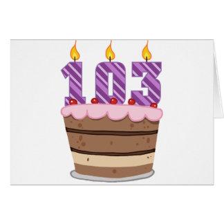 お誕生日ケーキの年齢103 カード