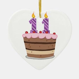 お誕生日ケーキの年齢11 セラミックオーナメント