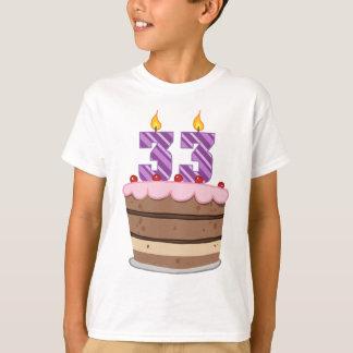 お誕生日ケーキの年齢33 Tシャツ