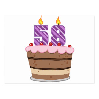 お誕生日ケーキの年齢58 ポストカード