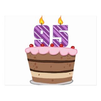 お誕生日ケーキの年齢95 ポストカード
