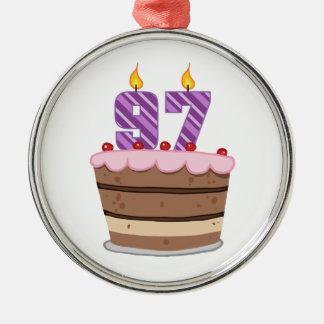 お誕生日ケーキの年齢97 メタルオーナメント