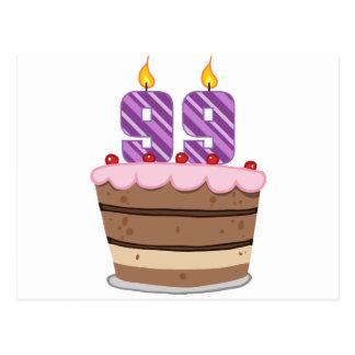 お誕生日ケーキの年齢99 ポストカード