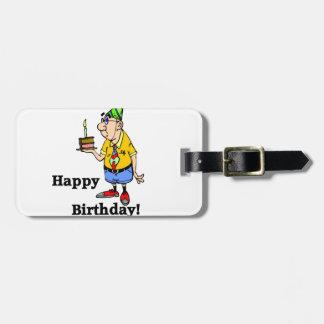 お誕生日ケーキ-人 ラゲッジタグ