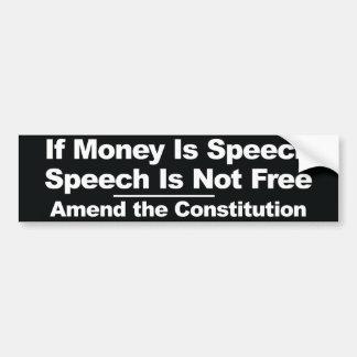 お金がならスピーチ… バンパーステッカー