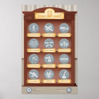 お金についての12のイディオム ポスター