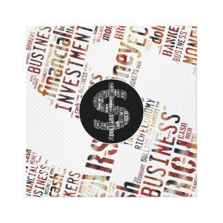 お金によってタイプされる文字の記号|ビジネスギフト キャンバスプリント