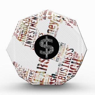 お金によってタイプされる文字の記号|ビジネスギフト 表彰盾