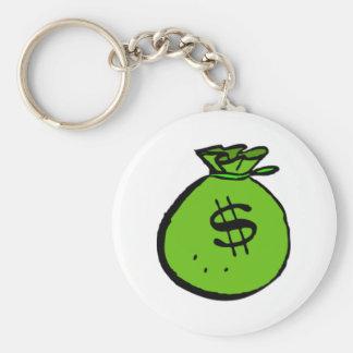 お金のバッグ キーホルダー