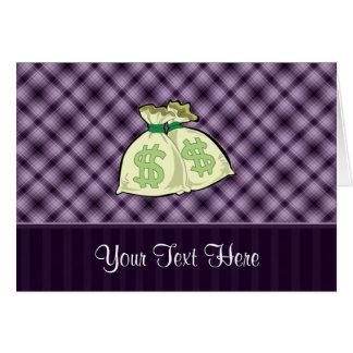 お金のバッグ; 紫色 カード