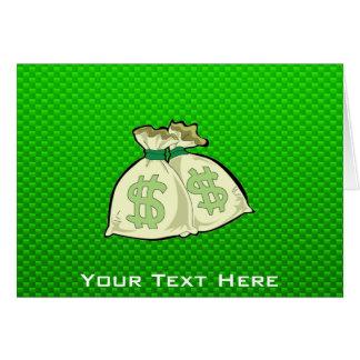 お金のバッグ; 緑 カード