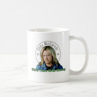 お金のマグが付いているプアホワイト コーヒーマグカップ