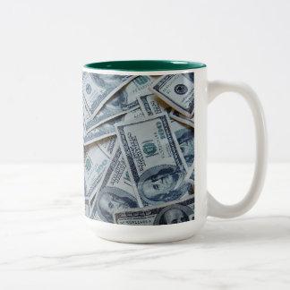 お金のマグ ツートーンマグカップ