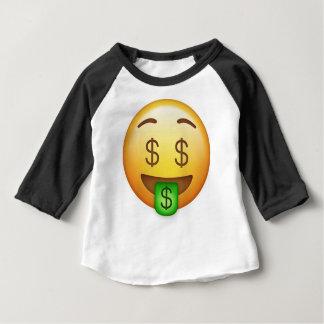 お金の口笑わされるなEmoji ベビーTシャツ