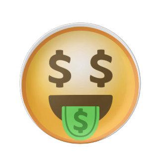 お金の口Emoji 磁器プレート