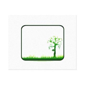 お金の木の草の長方形フレームgraphic.png キャンバスプリント