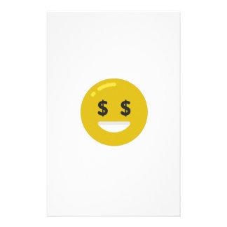 お金の目のemoji 便箋