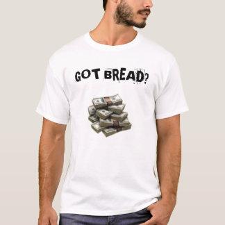 お金の積み重ねのTシャツ Tシャツ