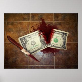 お金の自殺 ポスター