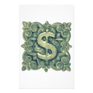 お金の記号のオーナメント 便箋
