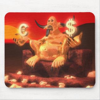 お金のMammonの鬼の神 マウスパッド
