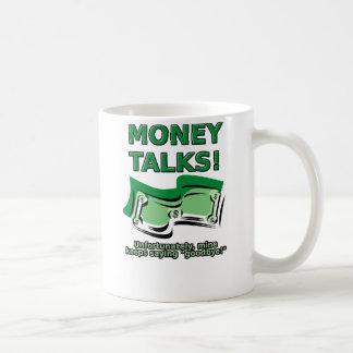 お金はおもしろマグカップを話します コーヒーマグカップ
